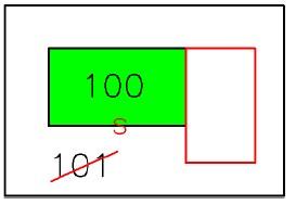 tipo mappale per fusione di particelle con ampliamento in aderenza > 20 mq e > 50 % di fabbricato in mappa