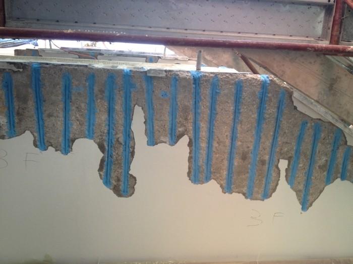ristrutturazione del cemento armato sottobalcone ancona